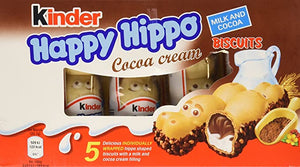 Kinder Happy Hippo Cocoa Cream Biscuits 5-Pack