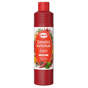 Hela Gewurz Scharf Curry Ketchup Product of Germany 348 g
