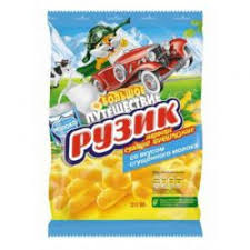 Ruzik Corn Puffs Condensed Milk Flavor Product of Russia 90 g