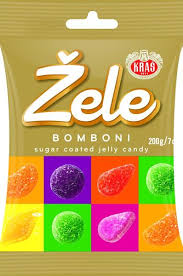 Zele Bomboni Sugar Coated Jelly Candy Product of Croatia 7 oz