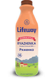 Lifeway Ryazhenka Cooked Cultured Milk Russian Style 32 oz