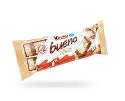 Kinder Bueno White Crispy Creamy Chocolate Bar Product of Poland 19.5 g