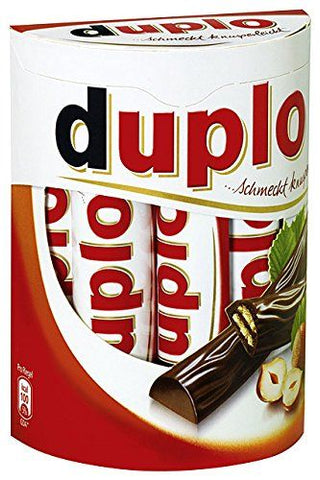 Ferrero Duplo Schmeckt Knusperleicht (Wafers with Hazelnut Cream) Bars Product of Germany 100 g