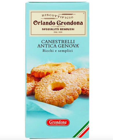 Orlando Grondona Canestrelli Cookies With Butter Product of Italy 3.5 oz