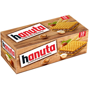 Hanuta Haselnuss-Schnitte (Crunchy Roasted Hazelnuts) Product of Germany 220 g