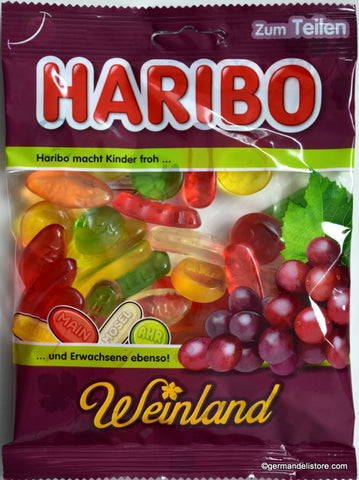 Haribo Weinland Wine Flavor Gummies Product of Germany 200 g