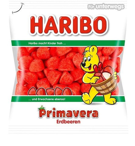 Haribo Primavera Erdbeeren Strawberry Foam Sugar Product of Germany 200 g