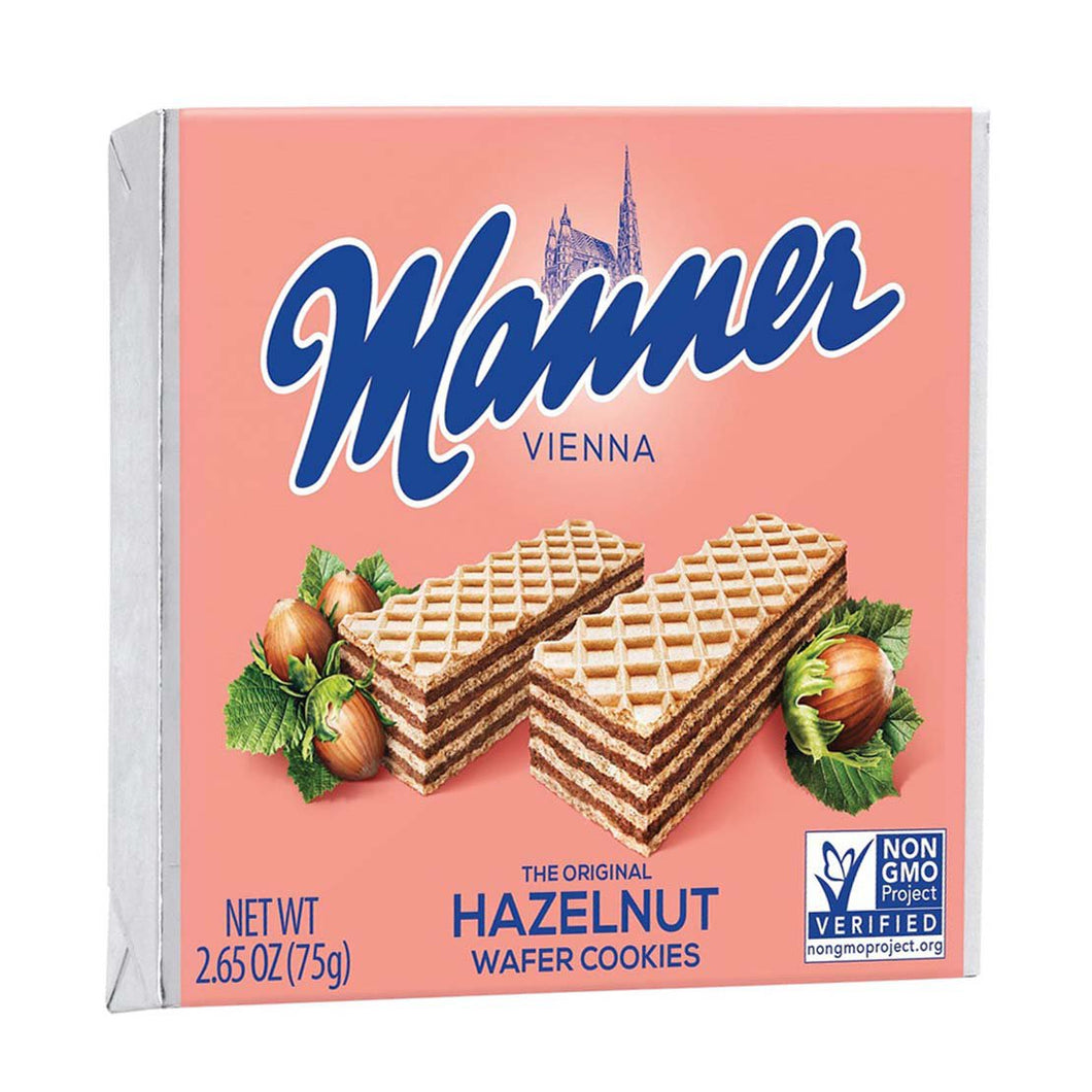 Manner Vienna The Original Hazelnut Wafer Cookies Product of Austria 2.65 oz