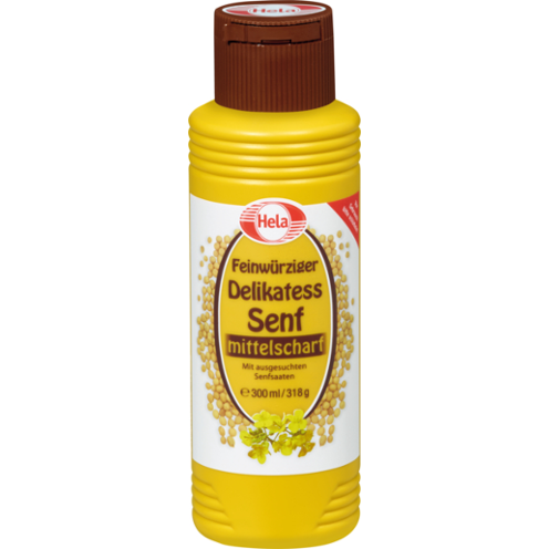 Hela Medium Hot Mustard Product of Germany 10.14 oz