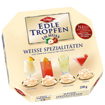 Trumpf Edle Tropfen in Nuss Premium Weisse Spezialitaten (Specialty white chocolate truffles in nuts with Pina Colada, Kir Royal, Bellini, and Daiquiri with a sugar crust) Product of Germany 250 g