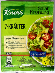 Knorr Salat Kronung 7-Krauter (7-Herb Salad Seasoning) Product of Germany 5 per-pack