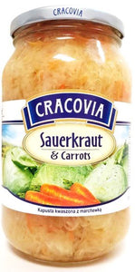 Cracovia Sauerkraut and Carrots Product of Poland 15.74 oz (900 g)