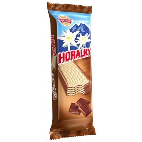 Sedita Horalky (Crispy Wafer with Cocoa Cream Filling) Chocolate Bar Product of Slovakia 1.76 oz