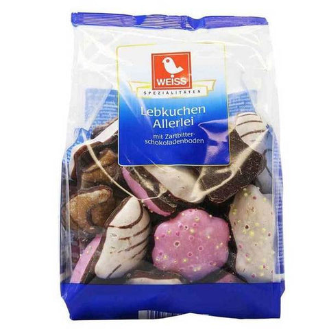 Weiss Assorted Lebkuchen Gingerbread Cookies Product of Germany 600 g