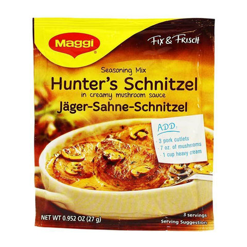 Maggi Hunter's Schnitzel in Creamy Mushroom Sauce Seasoning Mix Product of Germany 0.95 oz