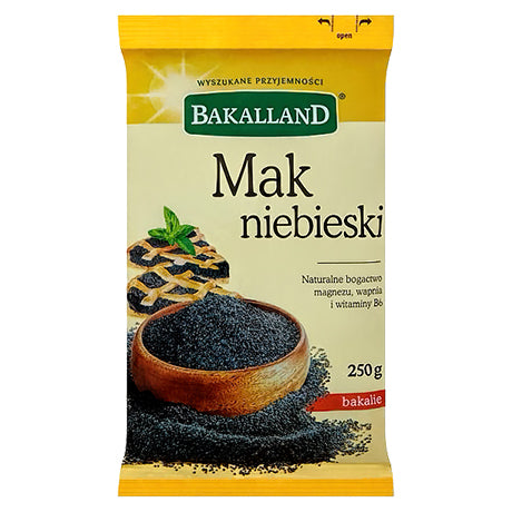 Bakalland Mak Niebieski Bakalie Blue Poppy Seeds Product of Poland 8.82 oz