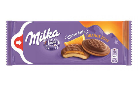 Milka Milk Chocolate Topped Biscuit with Orange Jelly Product of Poland 5.19 oz