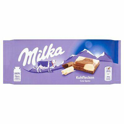 Milka Kuhflecken Cow Spots Milk Chocolate Bar Product of Germany 3.5 oz