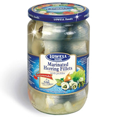 Lowell Foods Herring Fillets Marinated Rolmops 14 oz