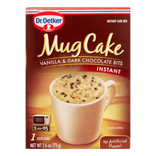 Load image into Gallery viewer, Dr. Oetker Instant Mug Cake Vanilla & Dark Chocolate Bits Product of Canada 2.6 oz