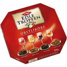 Load image into Gallery viewer, Trumpf Edle Tropfen in Nuss Obstliköre (Liqueur-filled Pralines with Nuts) Product of Germany 250 g