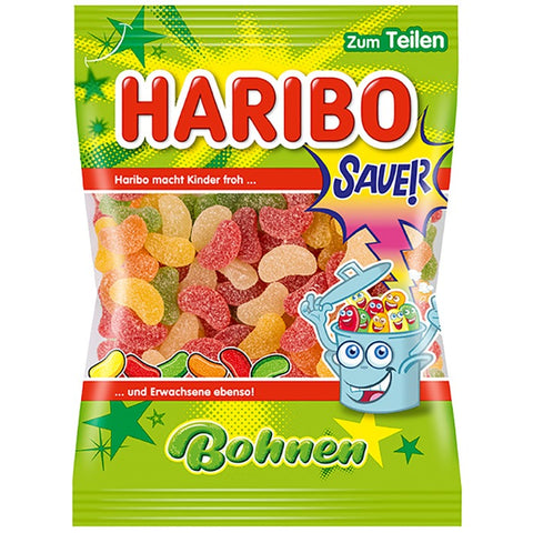 Haribo Sour Bohnen (Beans) Product of EU 200 g
