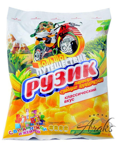 Ruzik Corn Puffs Classic Flavor Product of Russia 90 g