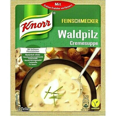 Knorr Waldpilz Suppe (Forest Mushroom Soup) Product of Germany 48 g