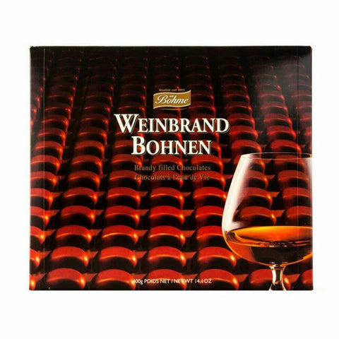 Bohme Weinbrand Bohnen Brandy Filled Chocolates Product of Germany 14.1 oz