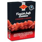 Halva Sweet and Soft Licorice Strawberry Flavor Product of Finland 7 oz