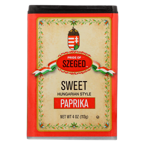 Pride of SZEGED Sweet Hungarian Style Paprika Product of Hungary 4 oz