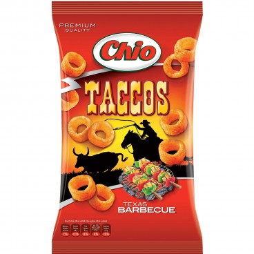 Chio Taccos Texas Barbecue Style Chips Product of Poland 100 g