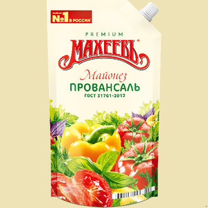 Premium Maheev Mayonnaise Provansal Product of Russia 400 g