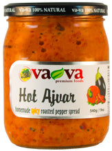 Load image into Gallery viewer, Vava 100% Natural Hot Ajvar Homemade Spicy Roasted Pepper Spread Product of Macedonia 19 oz