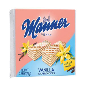 Manner Vienna Vanilla Wafer Cookies Product of Austria 2.65 oz