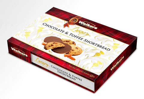 Walkers Luxury Chocolate & Toffee Shortbread Product of Germany 160 g