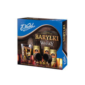 E.Wedel Barylki Dark Chocolates with Whiskey Flavor Filling Box Product of Poland 7.05 oz