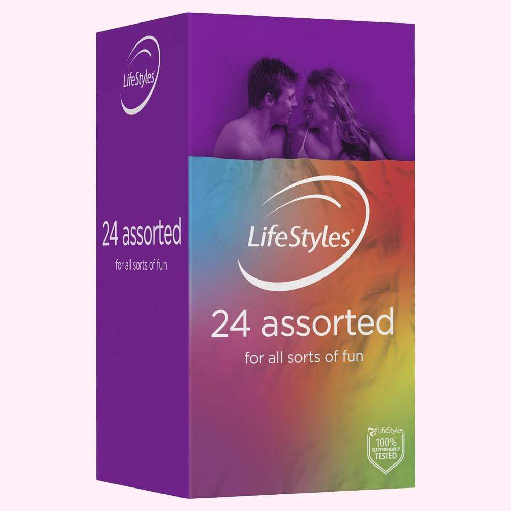 Lifestyles 24 Assorted - Condom Kingdom Australia Adult Shop