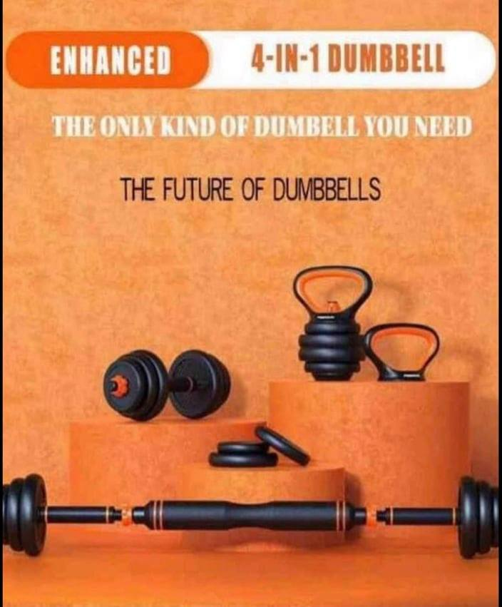 Enhanced  4-in-1 Dumbbell