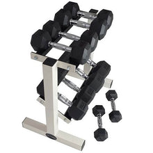 Load image into Gallery viewer, 2 Tier  hex dumbbell rack