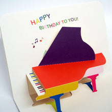 Load image into Gallery viewer, Pop up Piano Birthday Card - SimplySili Labels