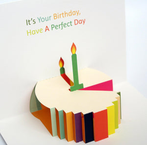 Pop up Cake Birthday Card - SimplySili Labels
