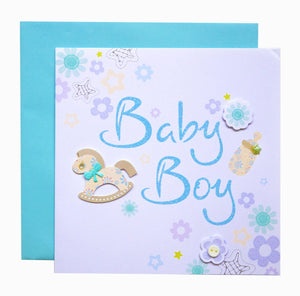 Baby Boy Greeting Card - SimplySili Labels