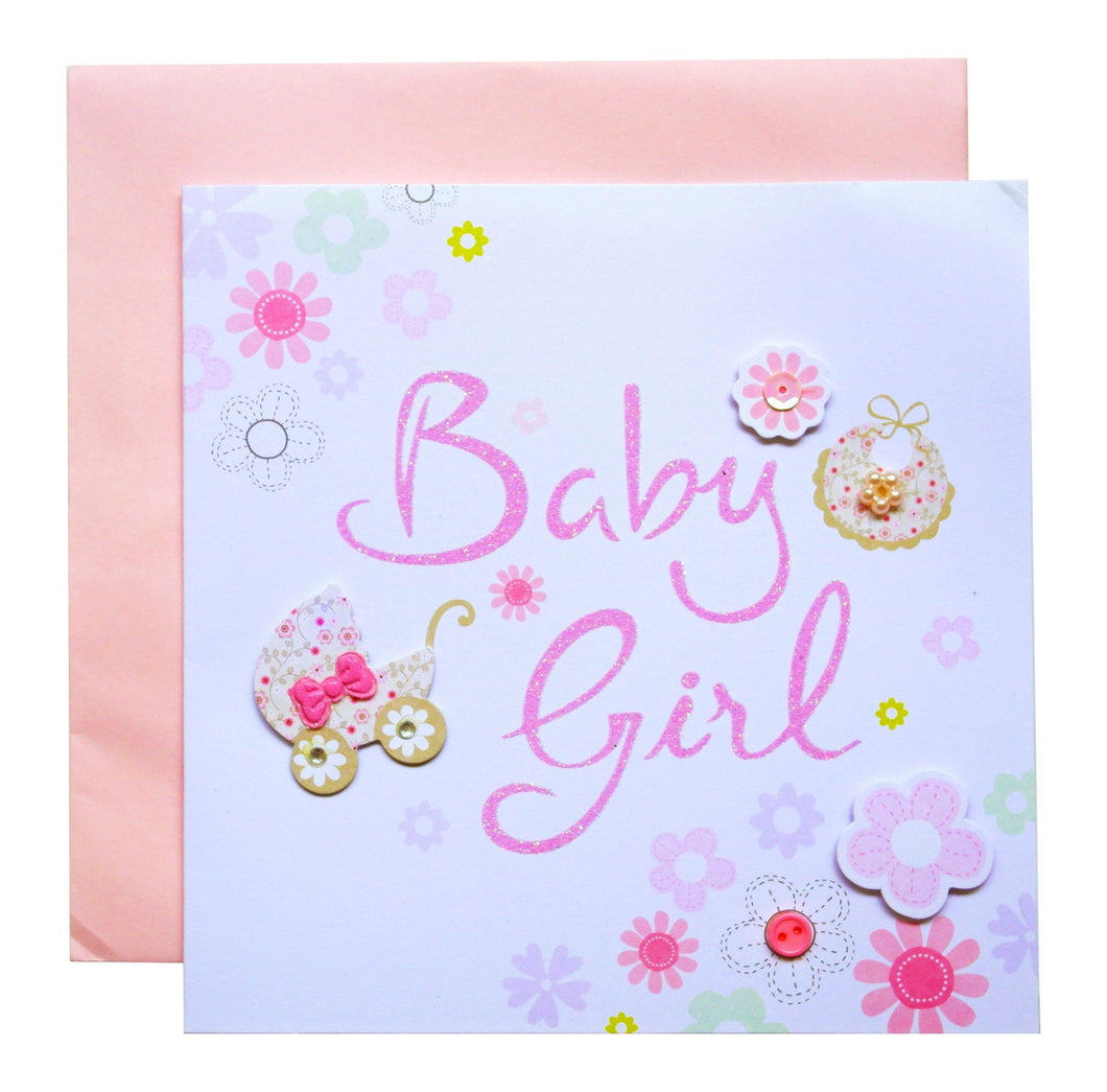 Baby Girl Greeting Card - SimplySili Labels