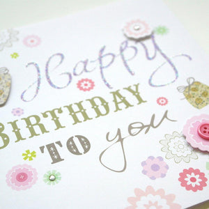 Happy Birthday Card - SimplySili Labels
