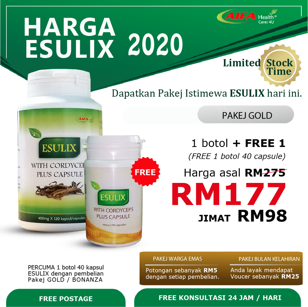 Esulix Package Gold: 1 x (120)+ 1(40) capsules