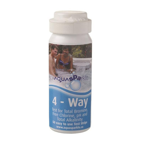 AQUASPARKLE 4 Way Test Strips for Pools, Hot Tubs and Spas (50 Strips) - Rigo Hot TubsTS4WAYAS