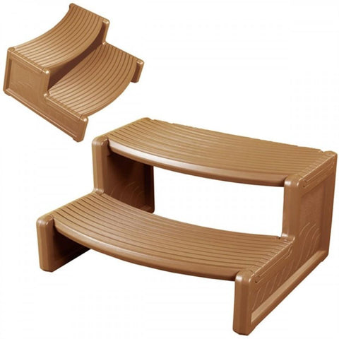 Handi Step -Teak - Rigo Hot TubsHSTK01