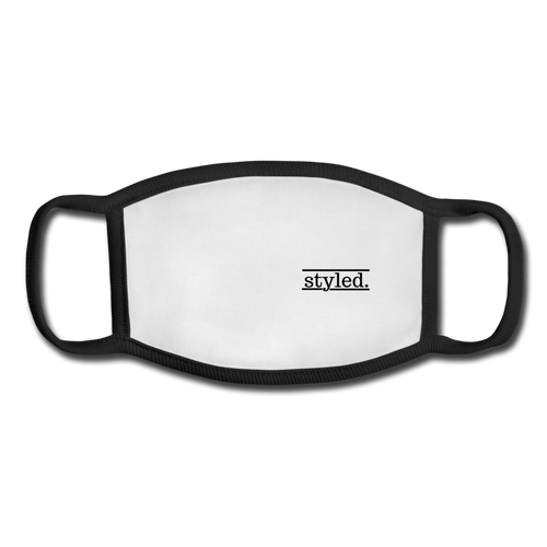 styled. Face Mask - white/black