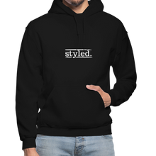 Load image into Gallery viewer, styled. Unisex Hoodie - black